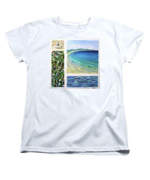Women's T-Shirt (Standard Cut) featuring the painting Seaside Memories by Chris Hobel