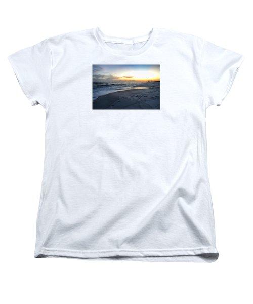 Women's T-Shirt (Standard Cut) featuring the photograph Seaside Sunset by Renee Hardison