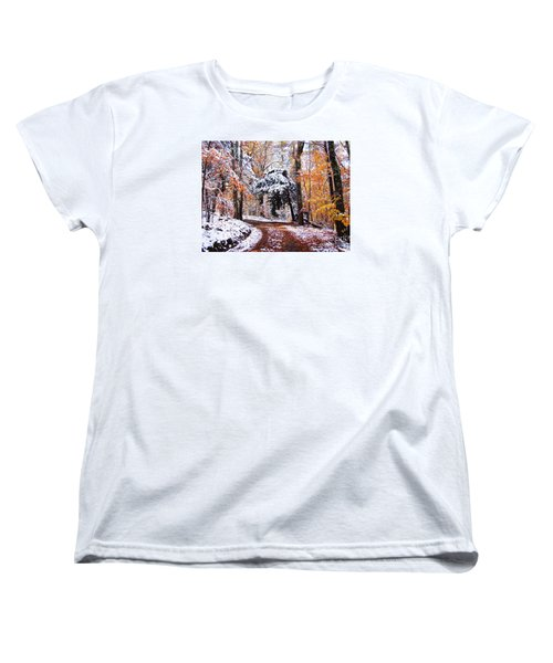 Women's T-Shirt (Standard Cut) featuring the photograph Seasons Cross by Betsy Zimmerli