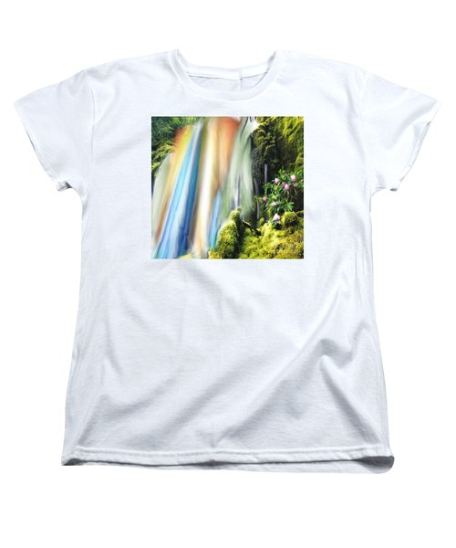 Secret Waterfall Of Life Women's T-Shirt (Standard Cut) by Belinda Threeths