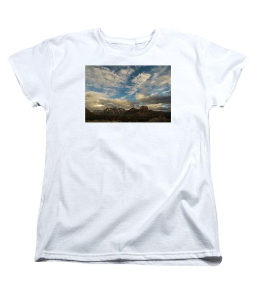 Sedona Arizona Redrock Country Landscape Fx1 Women's T-Shirt (Standard Cut) by David Haskett