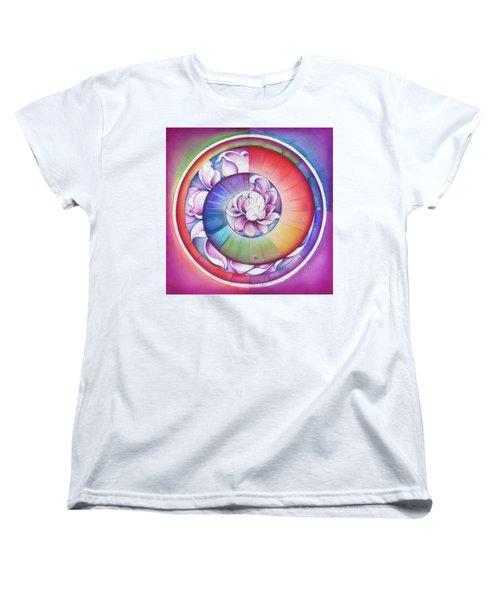 Seed Of Life - Mandala Of Divine Creation Women's T-Shirt (Standard Cut) by Anna Miarczynska