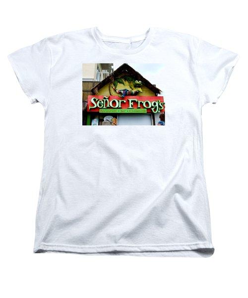 Senor Frogs Women's T-Shirt (Standard Cut) by Michiale Schneider
