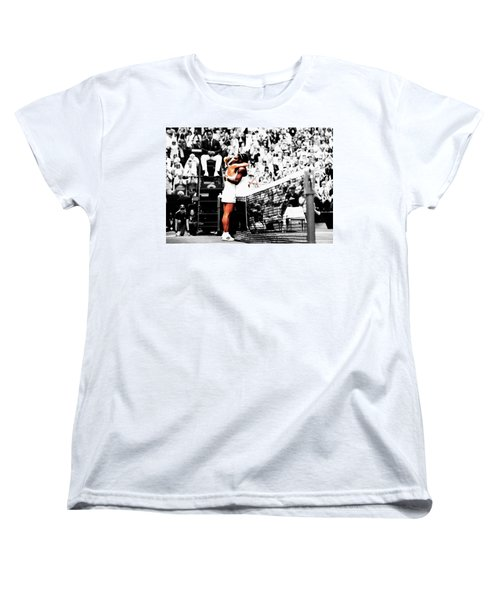 Serena Williams And Angelique Kerber 1a Women's T-Shirt (Standard Cut) by Brian Reaves