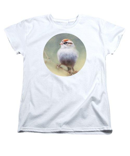 Serendipitous Sparrow  Women's T-Shirt (Standard Cut) by Anita Faye