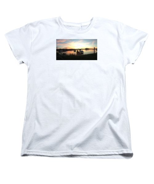 Serene Sunset Women's T-Shirt (Standard Cut) by Rebecca Wood