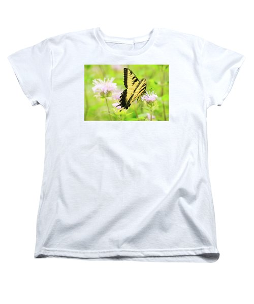 Series Of Yellow Swallowtail #4 Of 6 Women's T-Shirt (Standard Cut) by Joni Eskridge