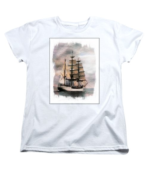 Ocean Women's T-Shirt (Standard Cut) featuring the painting Set Sail by Aaron Berg