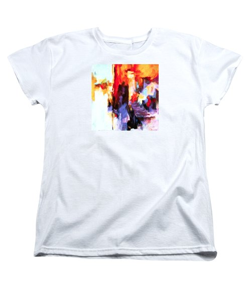 Women's T-Shirt (Standard Cut) featuring the painting Seven Steps by Chris Armytage