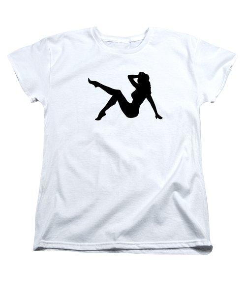 Sexy Trucker Girl Tee Women's T-Shirt (Standard Cut) by Edward Fielding