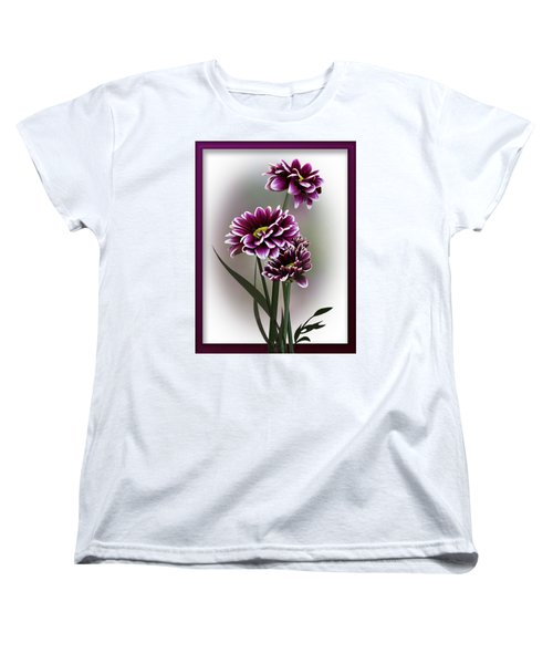Shades Of Purple Women's T-Shirt (Standard Cut) by Judy Johnson