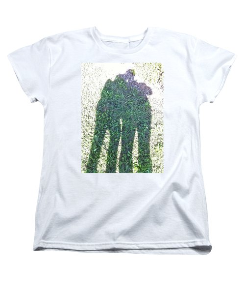 Women's T-Shirt (Standard Cut) featuring the photograph Shadow In The Meadow by Wilhelm Hufnagl