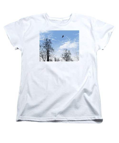Women's T-Shirt (Standard Cut) featuring the painting Shadow by Trilby Cole