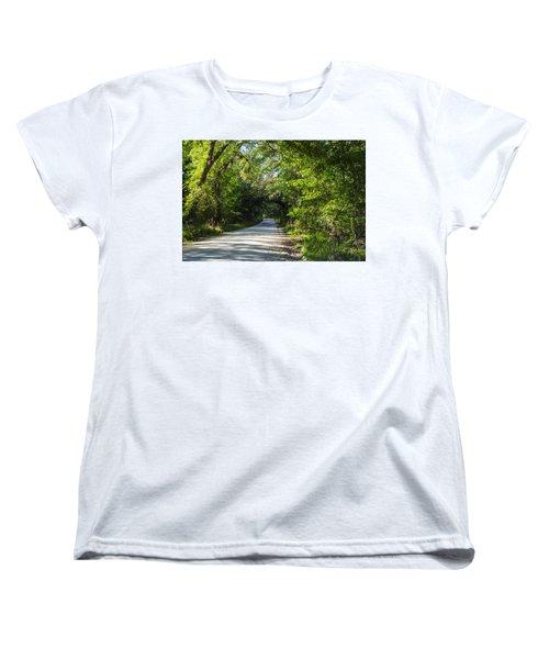 Shady Lane In Ocklawaha Women's T-Shirt (Standard Cut) by Deborah Smolinske