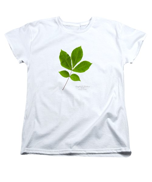 Women's T-Shirt (Standard Cut) featuring the photograph Shagbark Hickory by Christina Rollo