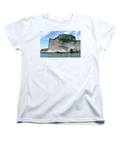 Women's T-Shirt (Standard Cut) featuring the photograph Shakespeare Rock, New Zealand by Yurix Sardinelly
