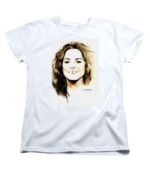 Shakira Women's T-Shirt (Standard Cut) by Lin Petershagen