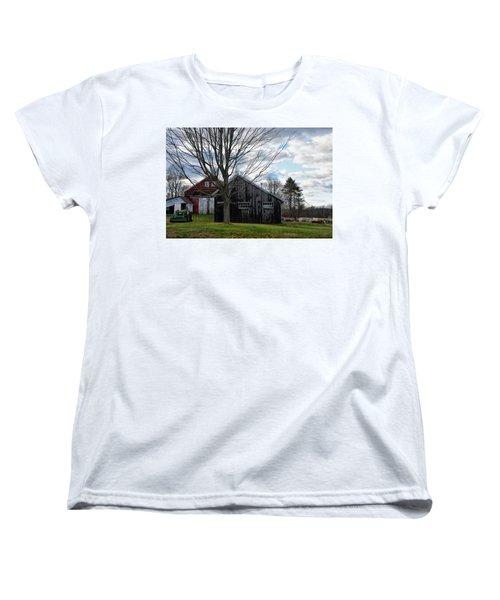 Shaw Hill Farm Women's T-Shirt (Standard Cut) by Tricia Marchlik