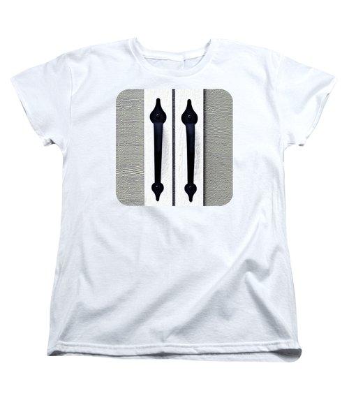 Shed Door Handles Women's T-Shirt (Standard Cut) by Ethna Gillespie