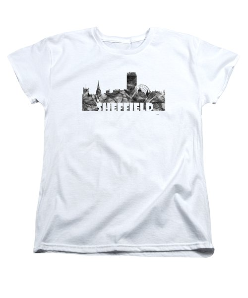 Sheffield England Skyline Women's T-Shirt (Standard Fit)