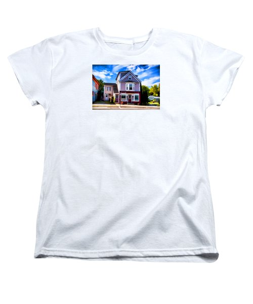 Women's T-Shirt (Standard Cut) featuring the photograph Shelbourne Bakery by Rick Bragan