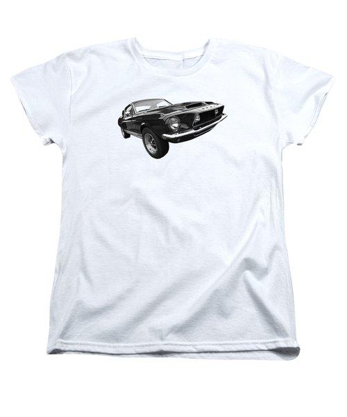 Shelby Gt500kr 1968 In Black And White Women's T-Shirt (Standard Cut) by Gill Billington