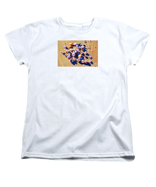 Women's T-Shirt (Standard Cut) featuring the photograph Shell Collection by Roberta Byram