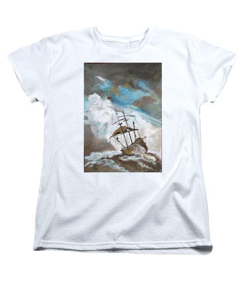 Ship In Need Women's T-Shirt (Standard Cut) by Carole Robins