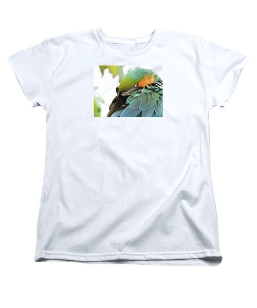 Women's T-Shirt (Standard Cut) featuring the photograph Shy Macaw by Penny Lisowski