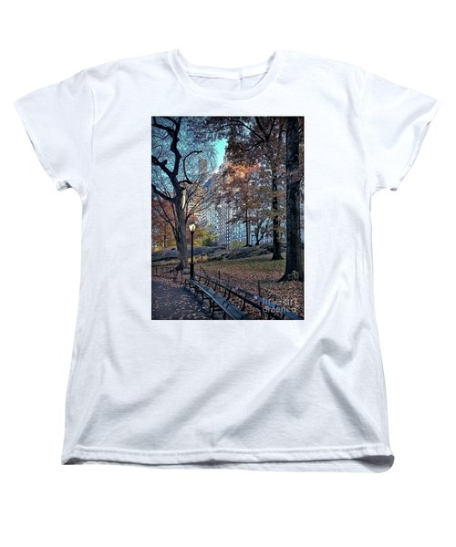 Women's T-Shirt (Standard Cut) featuring the photograph Sights In New York City - Central Park by Walt Foegelle
