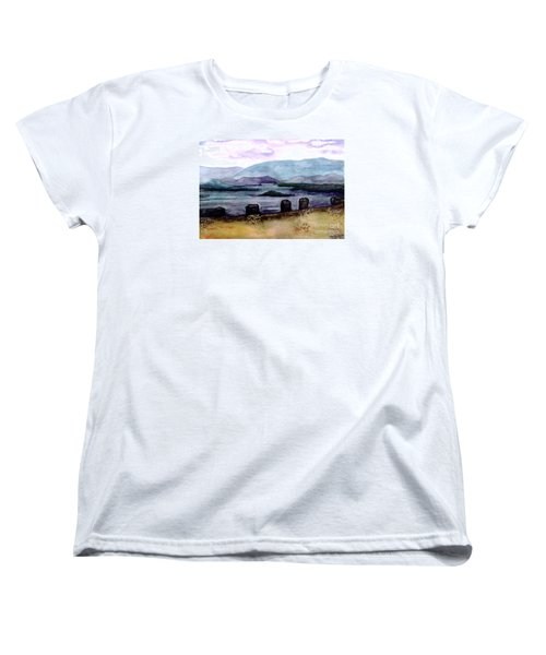 Women's T-Shirt (Standard Cut) featuring the painting Silent Sentinels by Patricia Griffin Brett