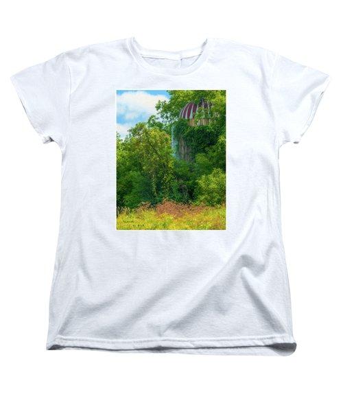 Silent Silo On Nottleson Road Women's T-Shirt (Standard Cut) by Trey Foerster