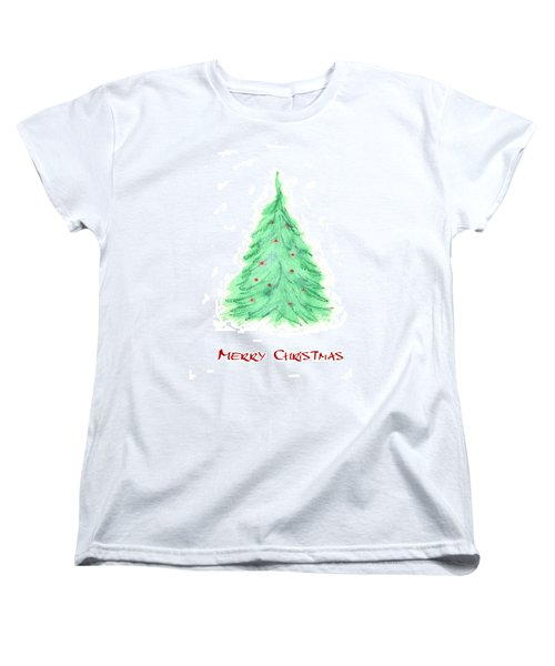 Simple Christmas Card 2 Women's T-Shirt (Standard Cut) by Marna Edwards Flavell