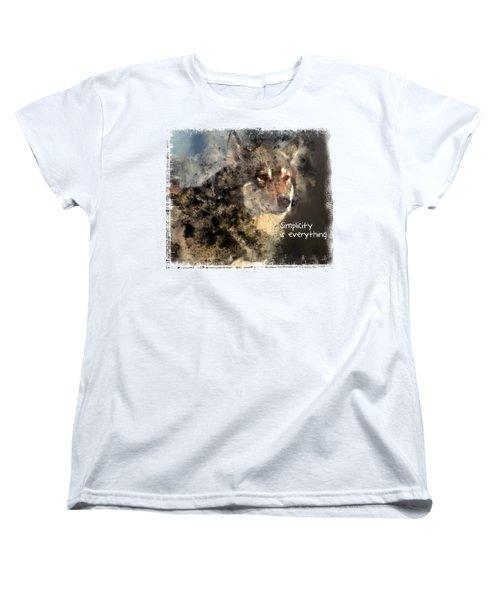 Simplicity Is Everything -light Women's T-Shirt (Standard Cut)