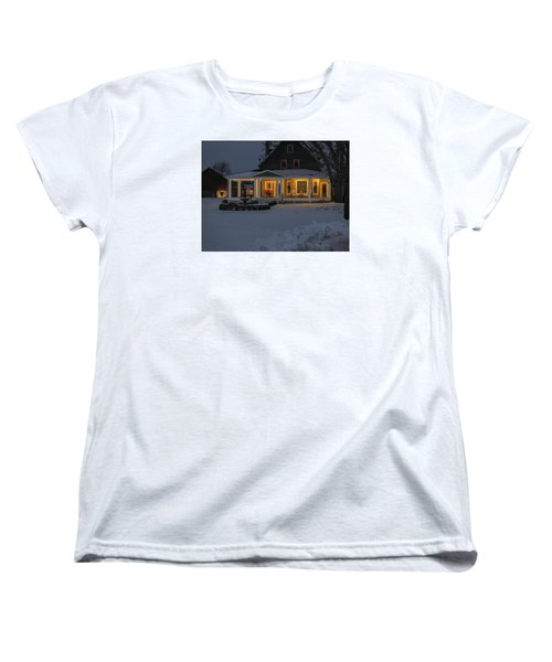 Women's T-Shirt (Standard Cut) featuring the photograph Simply Elegant Porch by Judy Johnson