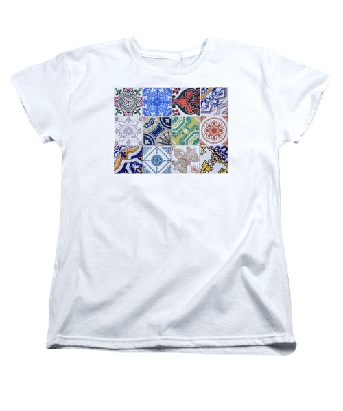 Women's T-Shirt (Standard Cut) featuring the photograph Sintra Tiles by Carlos Caetano