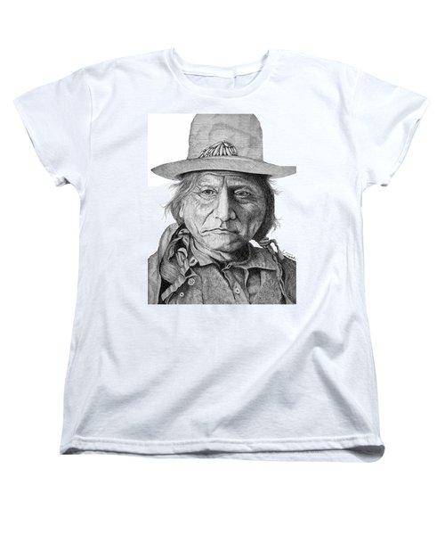 Sitting Bull Women's T-Shirt (Standard Cut) by Lawrence Tripoli
