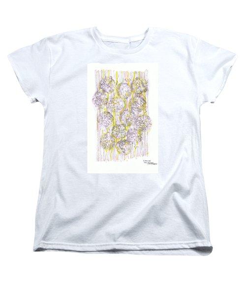 Size Exclusion Chromatography Women's T-Shirt (Standard Cut) by Regina Valluzzi