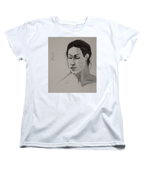 Women's T-Shirt (Standard Cut) featuring the drawing Sketch For Marie 2 by Ray Agius