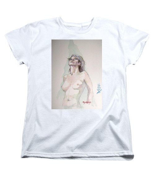 Women's T-Shirt (Standard Cut) featuring the painting Sketch For Megan Iv by Ray Agius