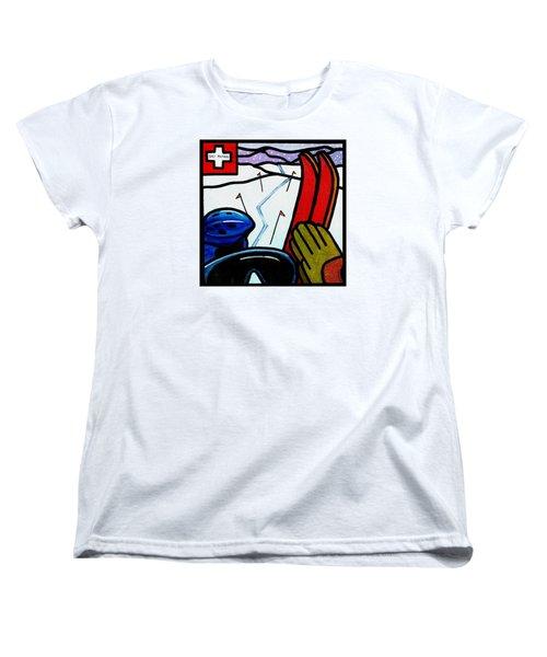 Ski Patrol Women's T-Shirt (Standard Cut) by Jim Harris