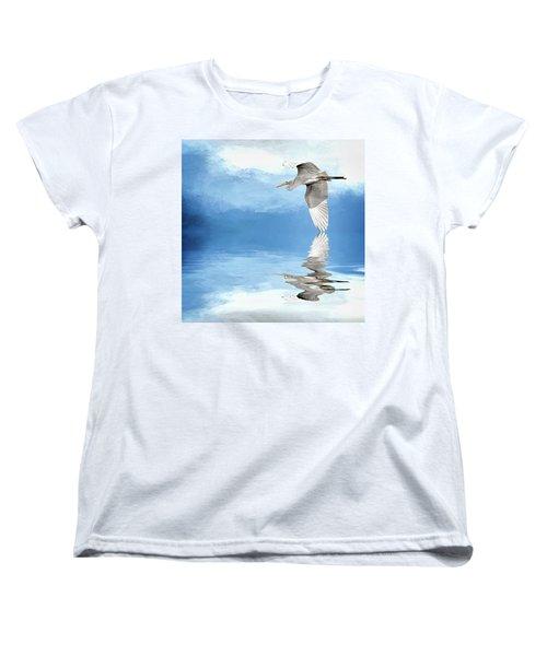 Skimming Women's T-Shirt (Standard Cut) by Cyndy Doty
