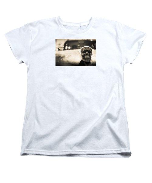Women's T-Shirt (Standard Cut) featuring the photograph Skull Car by Lora Lee Chapman