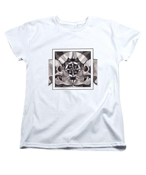 Skull Mandala Series Nr 1 Women's T-Shirt (Standard Cut) by Deadcharming Art