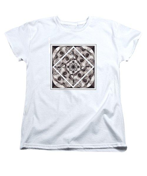 Skull Mandala Series Number Two Women's T-Shirt (Standard Cut) by Deadcharming Art