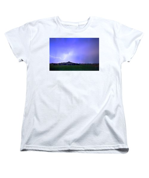Women's T-Shirt (Standard Cut) featuring the photograph Sky Monster Above Haystack Mountain by James BO Insogna