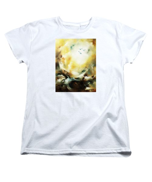 Women's T-Shirt (Standard Cut) featuring the painting Skyward by Craig T Burgwardt