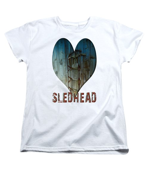 Sledhead Women's T-Shirt (Standard Cut) by Mim White