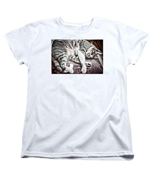 Sleeping Cat Women's T-Shirt (Standard Cut)