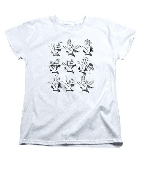 Women's T-Shirt (Standard Cut) featuring the digital art Slight Of Hand by Edward Fielding